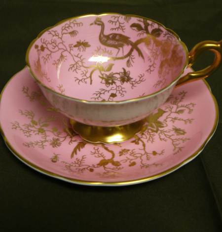 coalport tea cup, pink tea cup, tea cup,